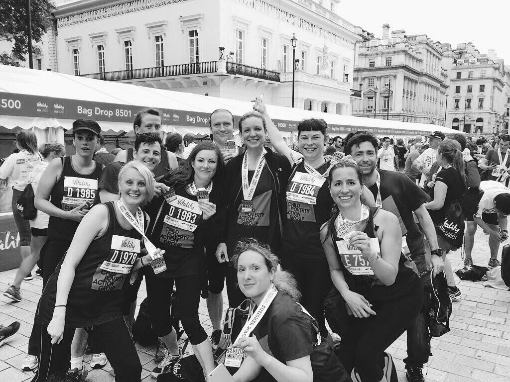 Group of CPAG supporters after running the British 10k London 2016 ii