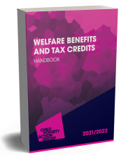 Image shows the Welfare Benefits and Tax Credits Handbook front cover