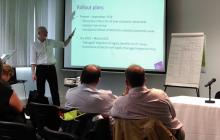 Simon Osborne presenting seminar