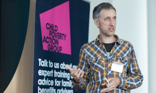 Martin Williams speaking at CPAG Manchester Welfare Rights Conference