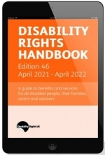 Disability Rights Handbook online cover