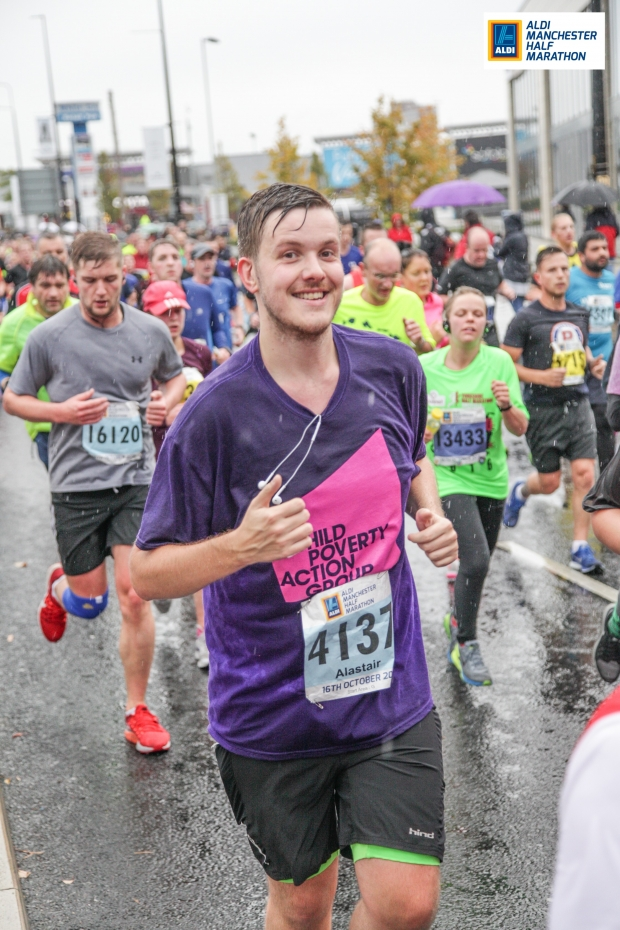 CPAG supporter running Manchester half marathon in colour