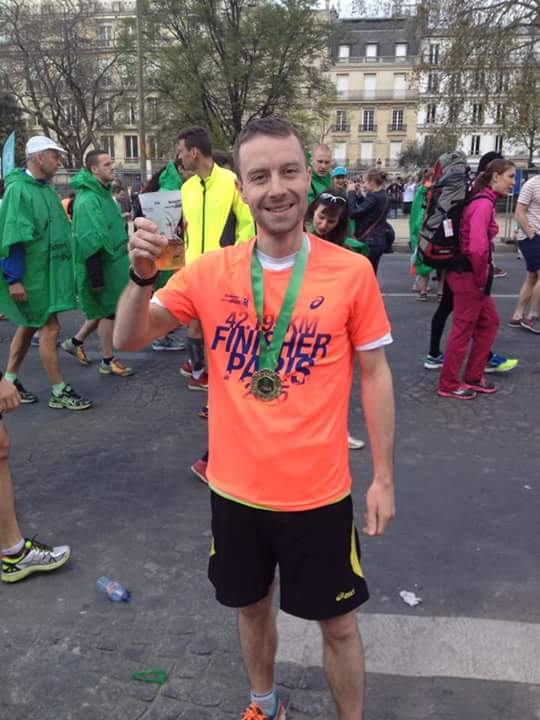 CPAG supporter after the Paris Marathon