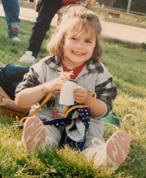 Léa childhood photo