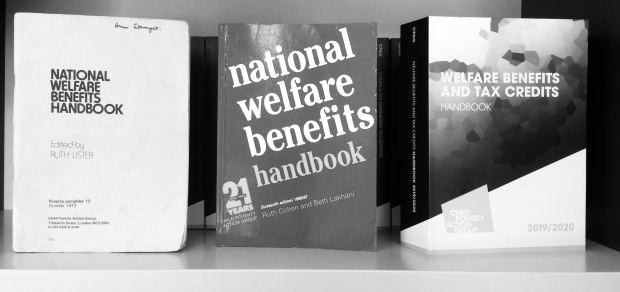 Welfare Benefits Handbooks through the years