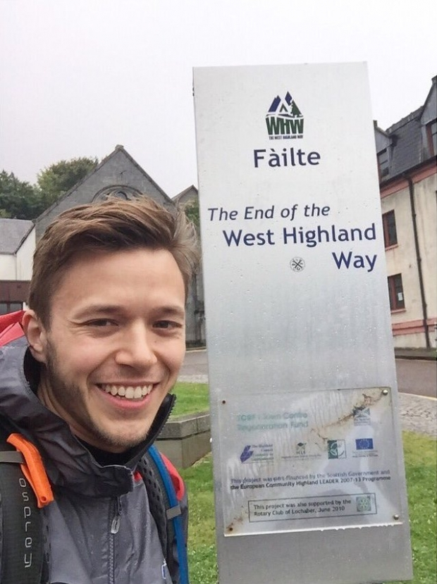 Jassa at the end of the West Highland Way