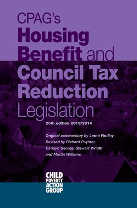 Housing Benefit & CTR Legislation cover