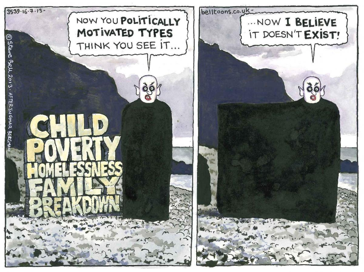 Now you see it - Steve Bell cartoon