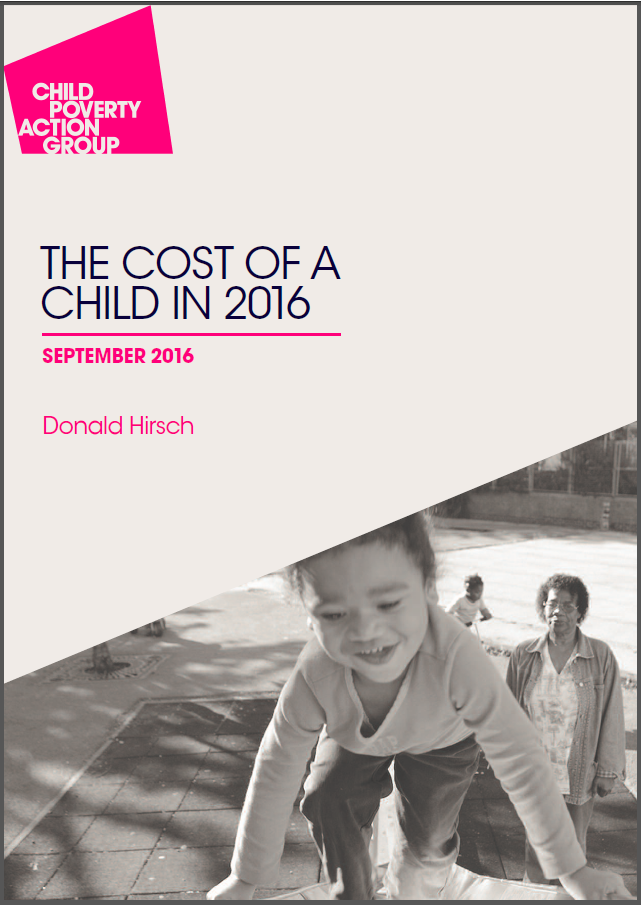 Cost of a child cover page